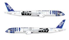 All #Nippon Airways is painting a new Boeing 787 with a #StarWars theme.  #aviation #art #theforce