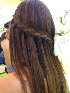 Trenza ❤ #trenza #peinado #sencillo #cabello #lacio