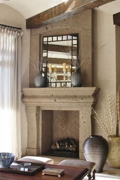 Brighton Classic Stone Fireplace Mantel MantelsDirectcom
