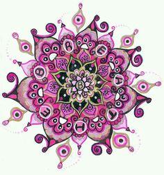 mandala- would be a gorgeous tat, minus the word breathe though. Mandala Doodle, Mandala Drawing, Doodles Zentangles, Zen Doodle, Mandala Art, Doodle Art, Mandala Tattoo, Mandala Design, Mandala Pattern