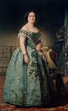 1855 María Josefa Coello de Portugal y Quesada by Federico Madrazo y Kunz (Museo Nacional del Prado - Madrid, Spain)