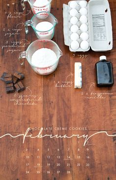 Chocolate creme cookies 2013 Recipe Wall Calendar Local/Seasonal by lizcarverdesign Web Design, Food Design, Layout Design, Print Design, Art Print, Ad Layout, Layouts, Meal Calendar, Calendar Ideas