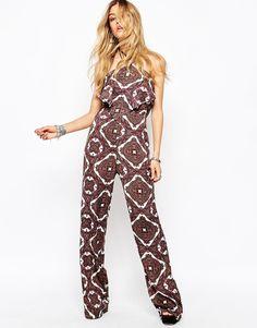 Missguided - Combinaison à pantalon large et imprimé aztèque bohème