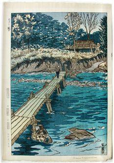 Kasamatsu Shiro--Footbridge at Musashi Arashiyama