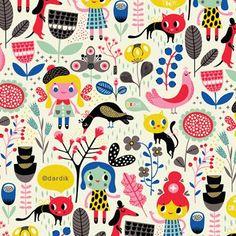 Girls pattern by Helen Dardik (beautiful stuff)