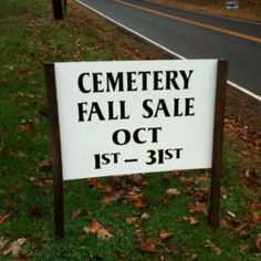 Hurry in!  Plots and headstones are 25% off.