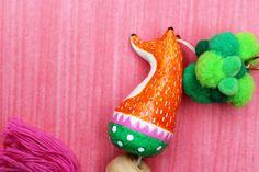 Tigerlillyquinn | Ceramic Fox Light Pull