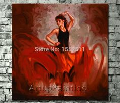Cheap dancer painting, Buy Quality women oil paintings directly from China flamenco dancer painting Suppliers: Spanish Flamenco Dancer painting latina woman Oil painting on canvas hight Quality Hand-painted Painting latina 07 Woman Painting, Figure Painting, Oil Painting On Canvas, Canvas Art, Dance Paintings, Paintings For Sale, Oil Paintings, Red Wall Art, Flamenco Dancers