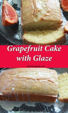 A tangy and delicious grapefruit cake with glaze.Not your traditional fruit cake