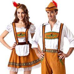 Oktoberfest bavarian adults fancy #dress #german beer ladies women mens #costume , View more on the LINK: http://www.zeppy.io/product/gb/2/401119422751/
