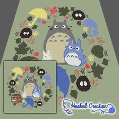 My Neighbor Totoro Sc Throw Blanket Crochet Pattern - PDF Download