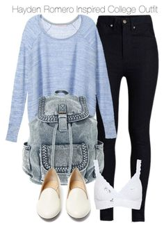 """""""Hayden Romero Inspired College Outfit"""" by staystronng ❤ liked on Polyvore featuring Rodarte, Victoria's Secret, Charlotte Olympia, Hanky Panky, college, tw and HaydenRomero"""