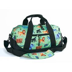 Kids wild animals duffel bag by Olive Kids!