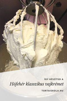 hofeher-klasszik-vajkrem Cake Fillings, Hungarian Recipes, Frosting Recipes, Cake Cookies, Nutella, Tea Party, Icing, Cake Decorating, Muffin