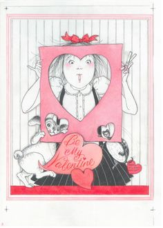 Eloise at the Plaza Valentine by Hilary Knight Vintage Valentines, Be My Valentine, Valentine Day Gifts, Eloise At The Plaza, Hilary Knight, Knight Art, Vintage Labels, Illustrations And Posters, Children's Book Illustration