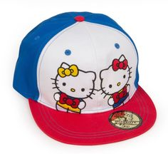 Hello Kitty Girls Kids Cute Red White Blue Sister Hat Cap One Size Fits All    6b7b42d6e030