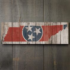 """Rustic Tennessee State Flag 17"""" Wood Sign  #Tennessee #signs #wood #stateflags"""