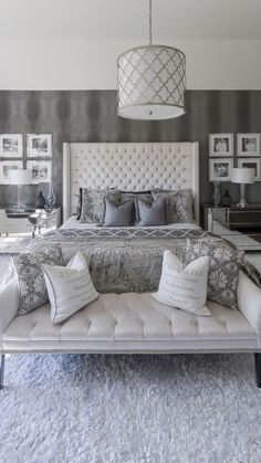 make a bedroom that will be a personal getaway and a sanctuary, that expresses your favorite colors, feelings, and collections. ideas Big Beautiful Bedrooms: 13 Best Bedroom Ideas to Choose Master Bedroom Design, Home Decor Bedroom, Modern Bedroom, Bedroom Ideas, Simple Bedroom Design, Luxury Bedroom Design, Grey Bed Room Ideas, Decorating A Bedroom, White Bedroom Suite