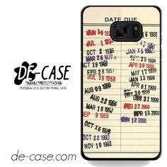Library Due Date DEAL-6472 Samsung Phonecase Cover For Samsung Galaxy Note 7