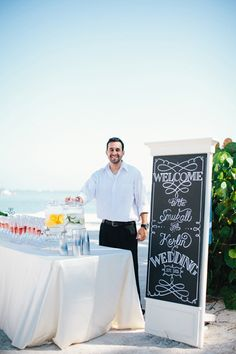 outdoor relaxation station | chalk drink station | Erika Delgado #wedding | LFF Designs | www.facebook.com/LFFdesigns