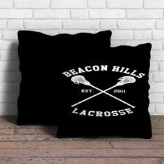 This is Beacon Hills Cyclones Teen Wolf white pillow cushion -Removable poly/cotton cover pillows are soft and wrinkle free. -Hidden zipper enclosure. -Do not include insert. -Finished with a black or