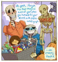 "by sabrebash ""More halloween Undertale. Secretly, Sans loves it."""