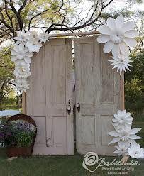 paper flower wedding arch - Google Search