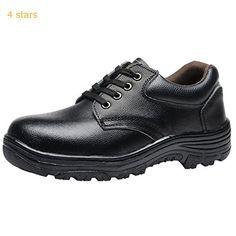 Optimal Work Mens Hartan Steel Toe Lace-up Shoe