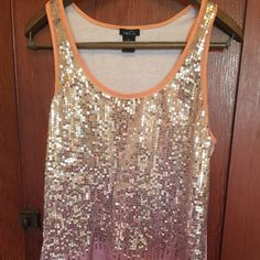 Sequined tank Pretty orange and purple Rue 21 Tops Tank Tops