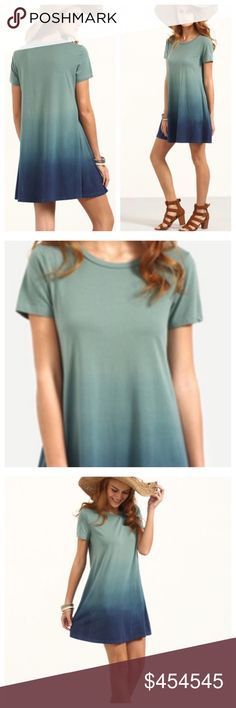 """COMING SOON """"THE OMBRÉ"""" Tee Dress! COMING SOON """"THE OMBRÉ"""" Tee Dress! 100% Cotton with stretch. Super comfy, cap sleeves, hits above the knee. Will look amazing with a jean jacket and boots too! More details upon arrival. Will arrive by week of 9/12/16. """"LIKE"""" to be notified. TonisTwinkles Dresses"""