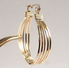 Wire Wrap Earring Gold Filled.  via Etsy.