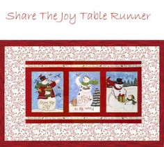 Share the Joy Runner Kit -Christmas Table Runner KitSECONDARY_SECTION$48.00: Fabric Patch: Patchwork Quilting fabrics, Moda fabric, Quilt Supplies,�Patterns