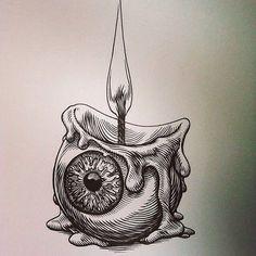 Abstracto self art, tattoo drawings, tattoos Art Inspo, Kunst Inspo, Inspiration Art, Tattoo Drawings, Cool Drawings, Trippy Drawings, Tattoo Sketches, Dark Art Drawings, Fantasy Drawings