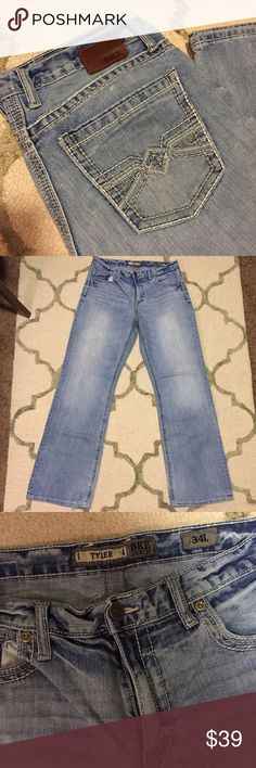 Men's BKE Tyler Jeans BKE Denim by Buckle, Tyler straight style, size 34L. In perfect condition! Retails for $75. BKE Jeans Bootcut