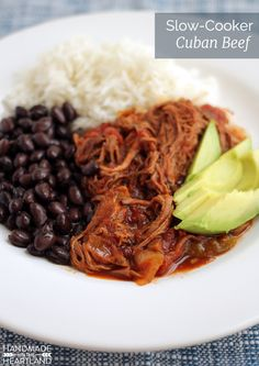 Slow Cooker Cuban Beef Recipe. This dinner recipe is the perfect meal to come home to after work or church. Love a make ahead meal!