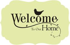Welcome Quotes Welcome Simply Words Wall Decal  Board And Messages