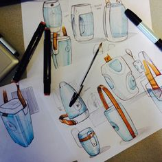 Fantastic product sketches. By Ronald Rink.