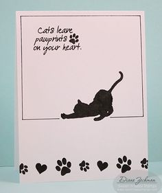 Kitty Love Clear Stamp Set - Sweet 'n Sassy Stamps