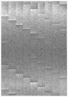 Alex Martinis Roe / stenotype (detail), 2010