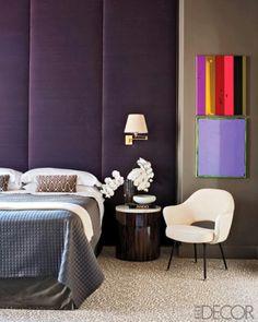 Upholstered panels on walls