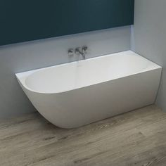 Alesso Corner bathtub corner bath / back-to-wall 160x70x60cm right MAT white acrylic FQ1060RM