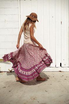 being me..., green-tea-bohemian: Castaway Skirt by Spell &...