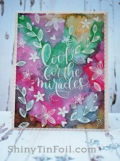 Look for Miracles watercolor card made from the Simon Says Stamp June 2016 Card Kit.