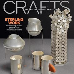 #SilverSpeaks is on the front cover of @craftsmagazine! #IdeaToObject @V_and_A - @vamuseum till 31st Jan 2017 #craftsmagazine #ContemporaryBritishSilversmiths #silver #silverware #silversmith #silversmithing #BritishSilver #VictiriaAndAlbertMuseum