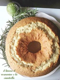 Cake's Amore... and more: Ciambellone profumato al limone e rosmarino