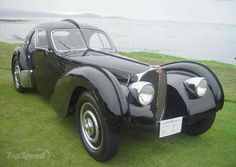 1936 Bugatti Type Atlantic Is The World's Most Expensive Car @ Top Speed - Sweet Cars Bugatti Type 57, Bugatti Cars, Bugatti Veyron, Classic European Cars, Classic Cars, Vintage Cars, Antique Cars, Cool Old Cars, Nice Cars