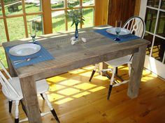 Farmhouse counter height table 54 x 30 x 36 or 42 h for Dining room tables 36 x 54