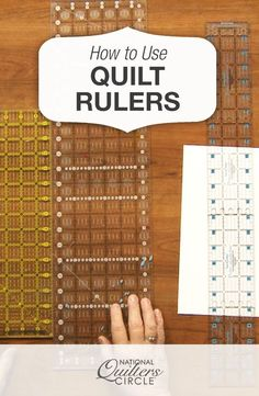 How to Use Quilting Rulers Properly | National Quilters Circle https://www.nationalquilterscircle.com/video/how-to-use-quilting-rulers-properly-012118/?vsoid=A5419