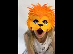 DIY How to make a lion mask for kids. In this tutorial we will teach you how to make a beautiful lion mask for kids. Lion Kids Crafts, Craft Projects For Kids, Diy For Kids, Sewing Projects, Felt Crafts, Paper Crafts, Lion Mask, Beautiful Lion, Felt Mask