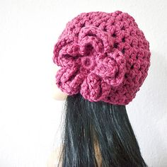 DIVA HAT  Timeless Hand Crocheted Romantic Hat with by kanokwalee, $58.00